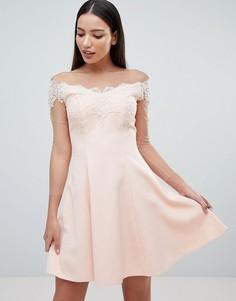 Платье мини с длинными рукавами Forever Unique - Розовый