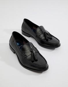 Черные кожаные лоферы с кисточками Ben Sherman - Черный