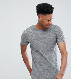 Меланжевая футболка D-Struct TALL - Черный