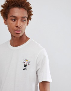 Белая футболка с принтом пеликана Nike SB 912350-100 - Белый