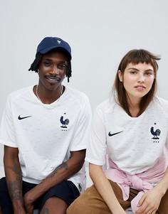 Белая рубашка Nike Football France Away Stadium 893871-100 - Белый