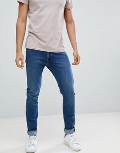 Синие выбеленные зауженные джинсы Lee Jeans Luke - Синий