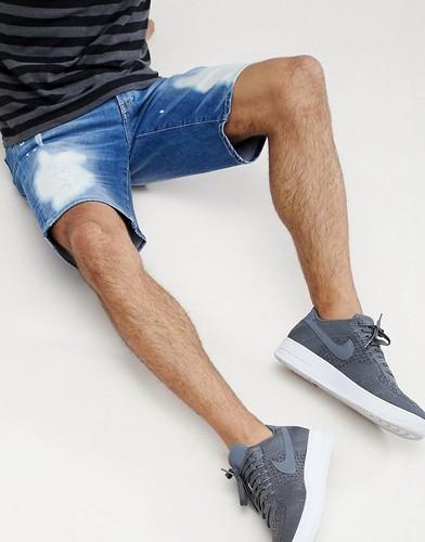 Синие состаренные джинсовые шорты Armani Exchange - Синий