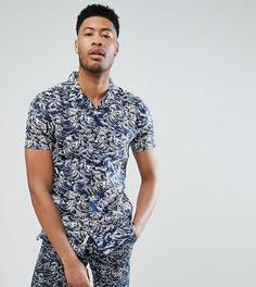 Рубашка с короткими рукавами и отложным воротником Bellfield TALL - Темно-синий