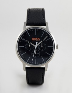Часы с черным кожаным ремешком BOSS Orange 1550065 Copenhagen - 40 мм - Черный
