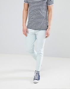 Синие джинсы скинни с необработанными краями ASOS DESIGN - Синий