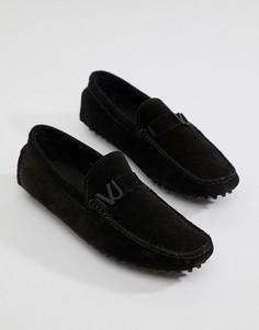 Черные замшевые мокасины Versace Jeans - Черный