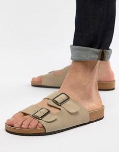 Песочные сандалии с пряжками ASOS DESIGN - Светло-бежевый