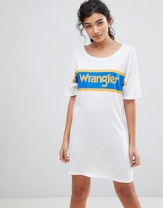 Платье-футболка с логотипом синего и желтого цветов Wrangler - Белый