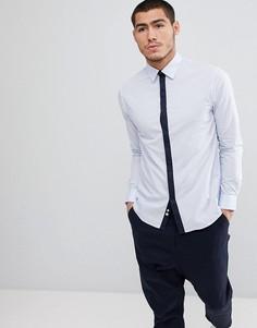 Строгая рубашка с контрастной планкой Celio - Синий