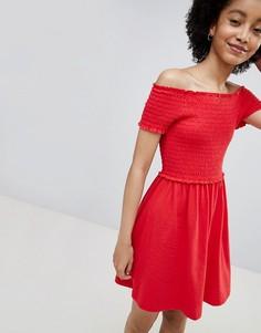 Свободное платье с короткими рукавами Only - Красный