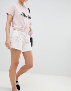 Джинсовые шорты с необработанными краями Only - Розовый