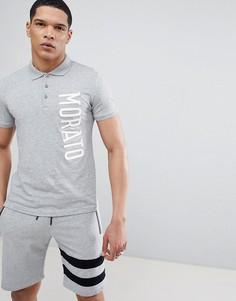 Серая футболка-поло Antony Morato - Серый