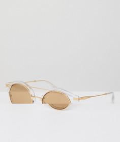 Круглые солнцезащитные очки с прозрачной и золотистой отделкой Sonix - Золотой