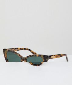 Солнцезащитные очки кошачий глаз в черепаховой оправе Sonix - Коричневый