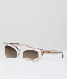 Кремовые солнцезащитные очки кошачий глаз Sonix - Кремовый
