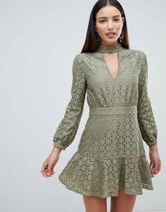 Платье с вырезом капелькой Forever Unique - Зеленый