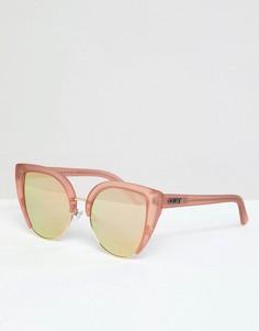 Солнцезащитные очки кошачий глаз цвета розового золота Quay Australia X Missguided Oh My Dayz - Золотой