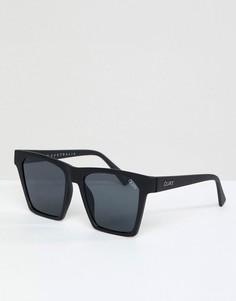 Черные квадратные солнцезащитные очки Quay Australia X Missguided Alright - Черный