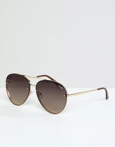 Солнцезащитные очки-авиаторы в золотистой оправе Quay Australia X Missguided Cool Innit - Золотой