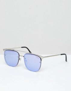 Солнцезащитные очки-авиаторы Quay Australia Private Eyes - Черный