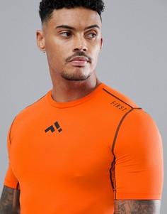 Оранжевая футболка FIRST - Оранжевый