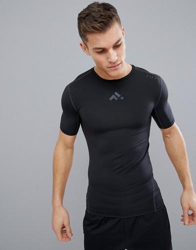 Черная базовая футболка FIRST - Черный