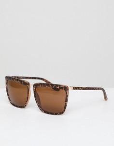 Черепаховые квадратные солнцезащитные очки AJ Morgan - Коричневый