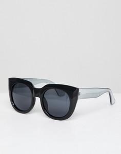 Массивные солнцезащитные очки кошачий глаз AJ Morgan - Черный