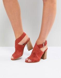 Замшевые босоножки на каблуке ASOS TAKOTA - Оранжевый