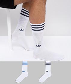 Белые носки adidas Originals adicolor CE5711 - Красный