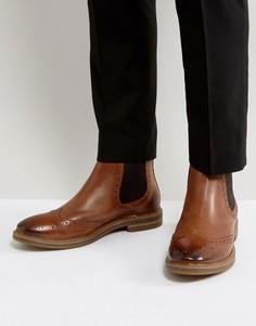 Кожаные ботинки челси Base London Riley - Рыжий