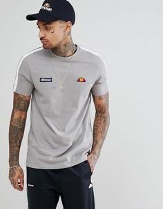 Серая футболка с лентой на рукавах ellesse - Серый