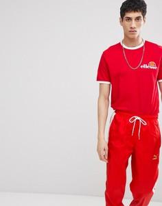 Красная футболка с логотипом на груди ellesse - Красный