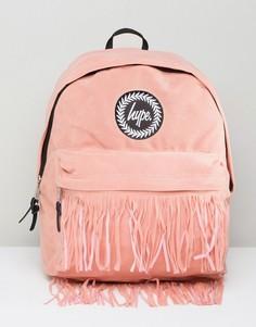 Рюкзак с бахромой на кармане Hype - Розовый