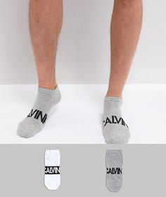 2 пары низких носков с логотипом Calvin Klein Intense Power - Мульти