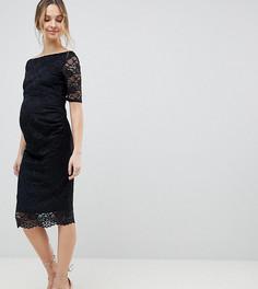 Кружевное платье с открытыми плечами ASOS DESIGN Maternity - Черный