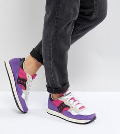Винтажные кроссовки (розовый/фиолетовый) Saucony Dxn - Желтый