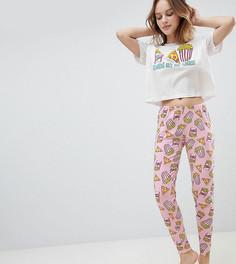 Пижама с футболкой и леггинсами ASOS PETITE - Мульти