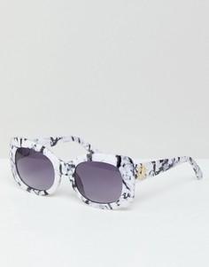 Крупные очки с мраморным эффектом River Island - Мульти