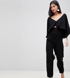 Комбинезон с рукавами-кимоно и широкими брюками ASOS DESIGN Tall - Черный