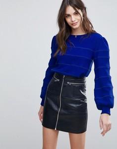 Вязаный джемпер с объемными рукавами Fashion Union - Синий