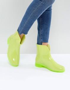 Блестящие резиновые сапоги ASOS GALACTIC - Желтый