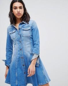 Платье-рубашка Tommy Hilfiger Denim - Синий