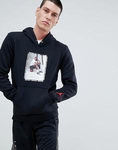 Черный худи с принтом Nike Jordan 943928-010 - Черный