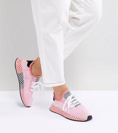 Розово-красные кроссовки adidas Originals Deerupt Runner - Розовый