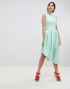 Асимметричное платье с бантом True Violet - Зеленый