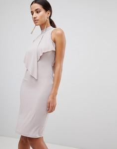 Облегающее платье Love - Коричневый