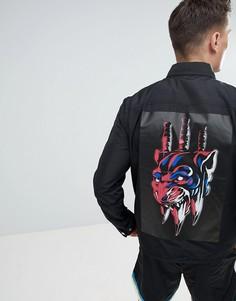 Куртка в контрастную полоску Diesel J-RIB PLAZA - Черный