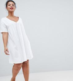 Свободное хлопковое платье ASOS DESIGN Curve - Мульти